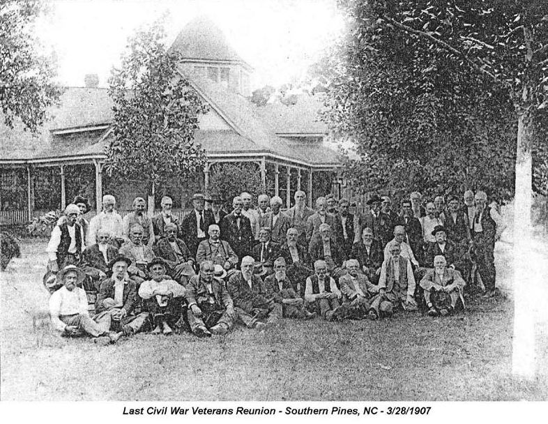 Moore County NC Civil War Veterans Reunion - 1906