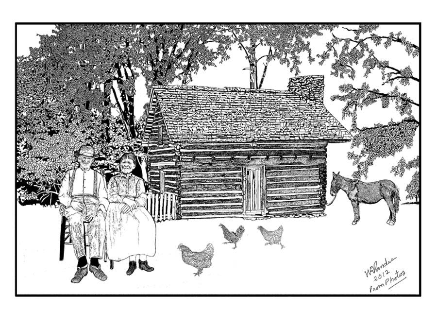 Sanders Cabin Drawing