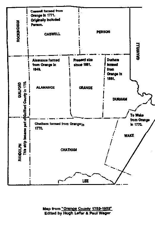 Orange County Nc Map History
